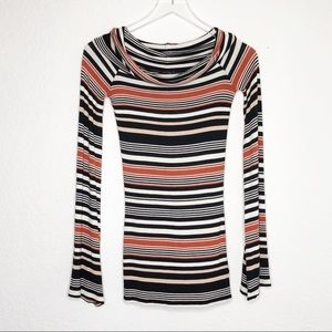 Free People | Striped Cowl neck Sweater Size XS